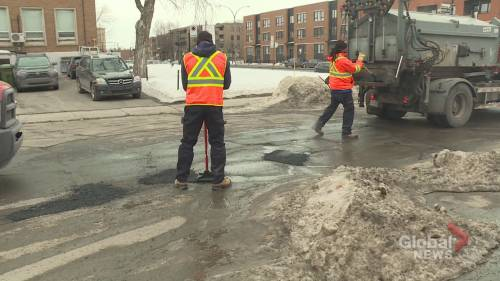 Montreal launches pothole-fixing blitz | Watch News Videos Online