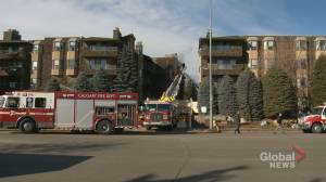 Calgary fire crews battle blaze at northwest condo complex