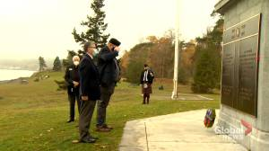 Smaller-scale Remembrance Day ceremony held at Grand Parade (02:04)