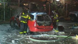 Neighbour describes trying to douse Kelowna vehicle fire