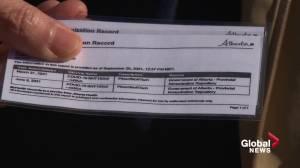 Alberta's vaccine passport system starts amid growing fourth wave (01:44)