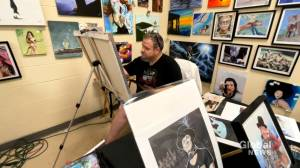 New Brunswick artist's painting of Gord Downie featured in author Robin Sharma's new book (02:02)