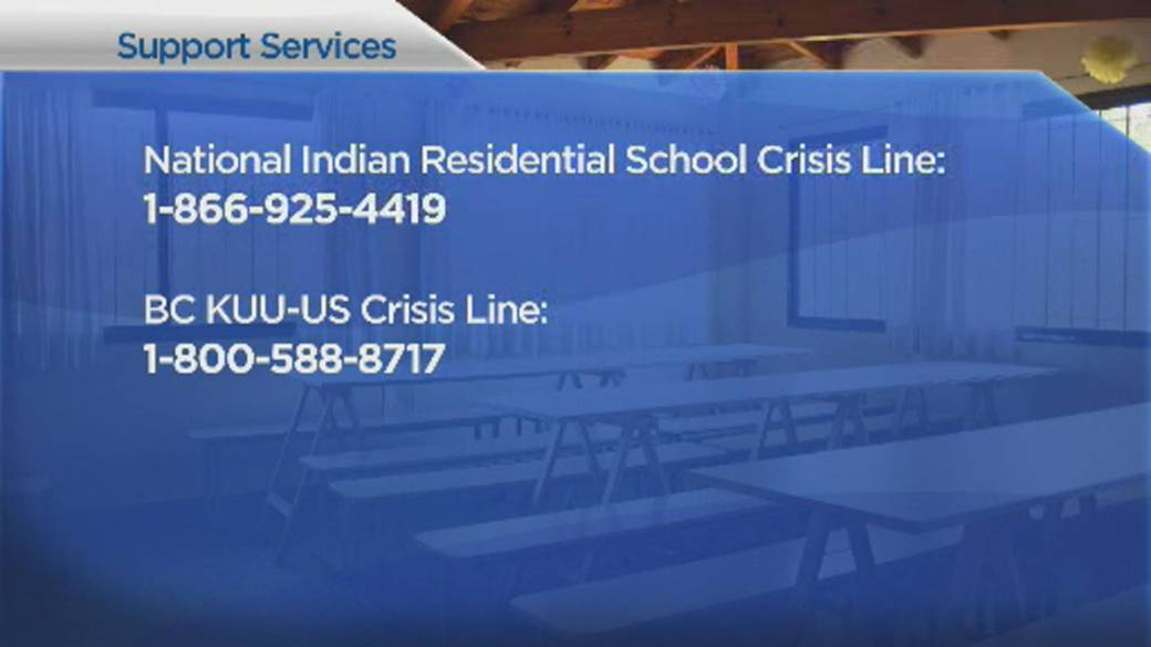 Click to play video: `` British Columbia Premier and Premier's Reaction to Heartbreaking Discovery of Kamloops Residential Schools ''