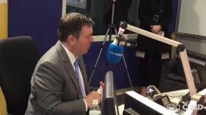 Premier Jason Kenney defends budget while appearing on 630 CHED