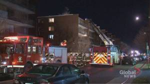 70 firefighters called to Lachine fire that left 2 dead, 1 in critical condition