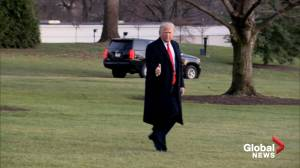 Trump leaves White House giving supporters thumbs up as impeachment hearing proceeds
