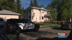 Homicide detectives investigate in Edmonton's Ritchie neighbourhood (01:45)