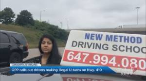 OPP calls out drivers making illegal U-turns on Hwy. 410