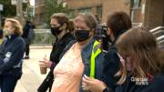 Play video: Coronavirus: Montreal-area students walk out of class to protest unhealthy learning environments