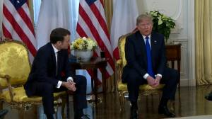 Trump, Macron talk digital tax at NATO summit