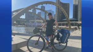 Nova Scotian honours soldier who died by suicide with cross country bike ride (04:43)