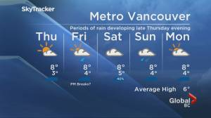 B.C. evening weather forecast: Jan. 13 (01:48)