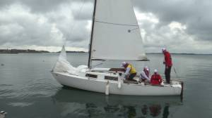 Blind sailors brave the water in Kingston