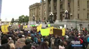 Climate change rally takes over Edmonton