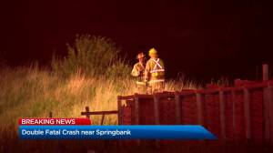 Crash west of Calgary kills two teens, injures two others (01:22)