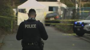 Woman dies of apparent gunshot wounds in Surrey (01:52)