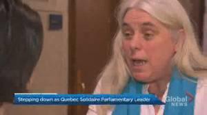 Manon Massé to step down as Québec solidaire parliamentary leader (00:37)