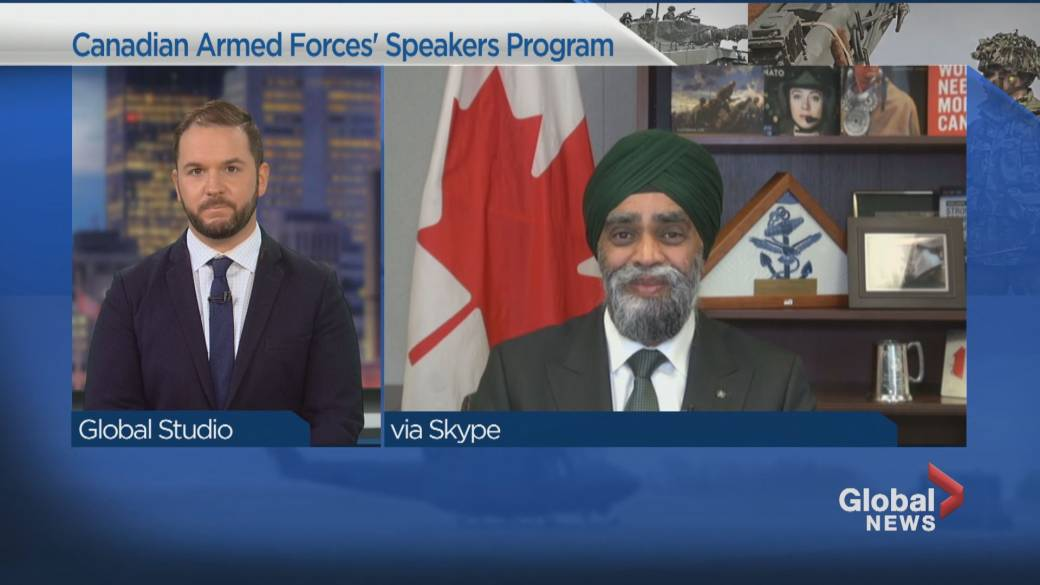 Click to play video 'Canadian Armed Forces' speakers program'