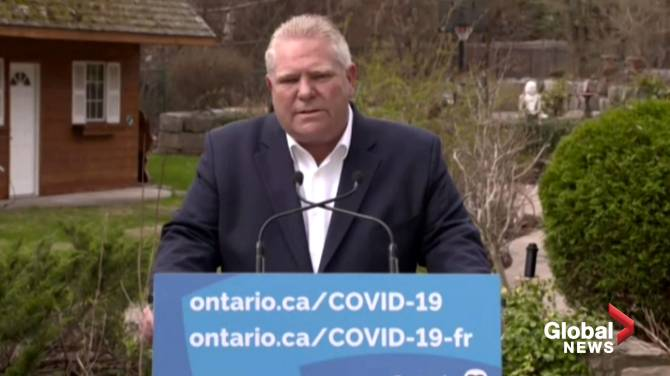Click to play video: Ford apologizes for increasing police powers, closing playgrounds; says province moved 'too quick'