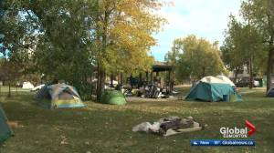 Edmonton's Peace Camp moves to different park in Old Strathcona