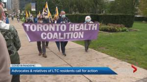 Protests across Ontario calling for improvements to long-term care (02:07)