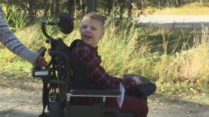 Okanagan boy gifted newfound independence with power wheelchair