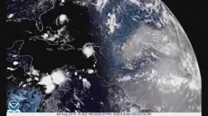 Dorian hits Puerto Rico as a Category 1 hurricane