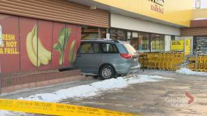 Van crashes through window of No Frills in Toronto