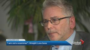 Director of weight loss rebate says, 'I am not a scammer' (02:58)