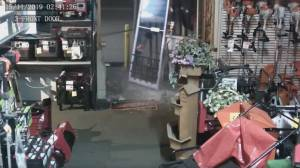 Mission business victimized by two violent break-ins