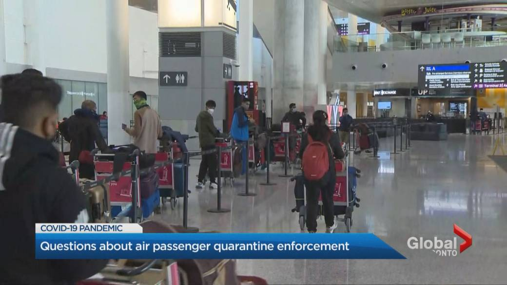 Click to play video: 'Police not enforcing airport quarantine order'