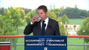 Man interrupts Scheer address, demands answers on Conservative climate policy