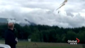 Video shows CF Snowbird jet crashing shortly after takeoff in Kamloops, B.C.