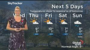 Global News Morning weather forecast: WEDNESDAY, November 11, 2020 (02:03)
