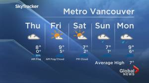 B.C. evening weather forecast: Dec. 2 (01:45)