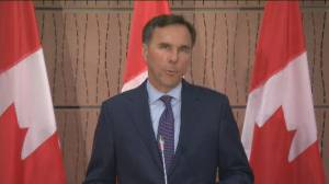 Bill Morneau says he's resigned as Canada's finance minister, MP (02:34)