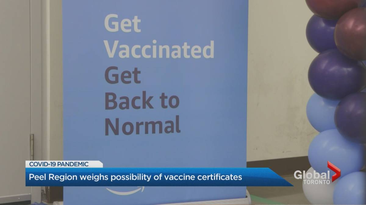 Click to play video: 'Peel Region's top doctor pushes Ontario to implement COVID-19 vaccine passport'