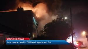 One person dead in Chilliwack apartment fire (02:13)