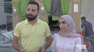 Beirut explosion: Wedding couple revisits square where blast interrupted bridal photoshoot