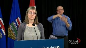 'COVID-19 loves parties': Hinshaw warns of coronavirus spread at Alberta gatherings (01:28)