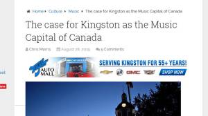 The arguments for calling Kingston the Music Capital of Canada