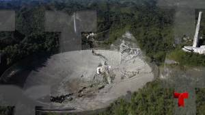 Aerial footage shows damage caused by Arecibo radio telescope collapse (00:43)