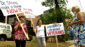 Families protest against continuing visitor restrictions in long-term care homes