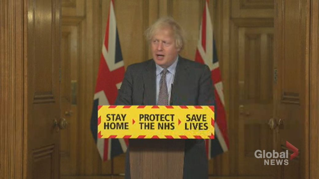 Click to play video: 'Boris Johnson says there 'may be a role' for coronavirus vaccine passports in U.K.'