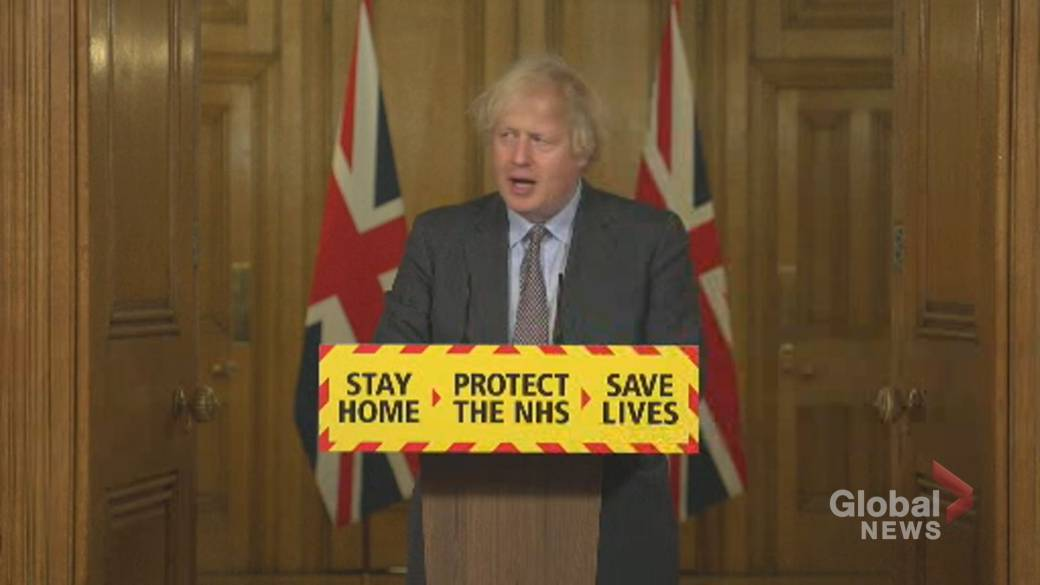 Click to play video 'Boris Johnson says there 'may be a role' for coronavirus vaccine passports in U.K.'