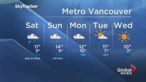 B.C. evening weather forecast: Nov. 15