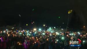 Fort Saskatchewan vigil held to honour lives of youngsters killed over the weekend