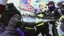Click to open video 'I was effectively defenceless': Officers at inquiry relive U.S. Capitol insurrection