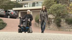 West Vancouver man demonstrates how quickly ALS symptoms can impact quality of life (02:37)