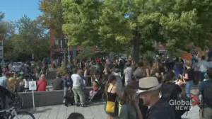 Hundreds of people demonstrate in Montreal against the Ray-Mont Logistiques project (01:59)